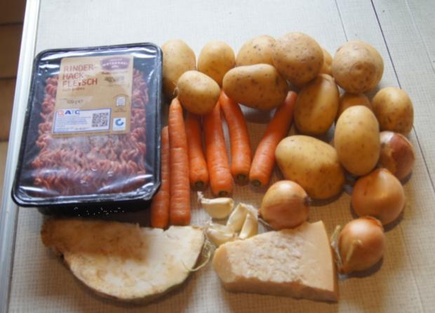 Überbackenes Rinder-Gemüse-Hackfleisch mit Kartoffelstampf - Rezept - Bild Nr. 4344