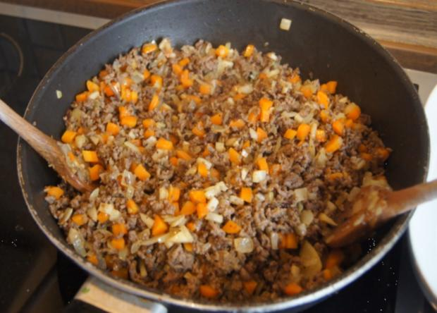 Überbackenes Rinder-Gemüse-Hackfleisch mit Kartoffelstampf - Rezept - Bild Nr. 4349