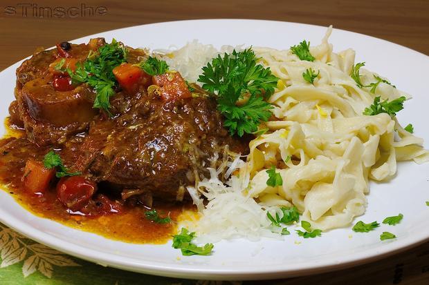 Ossobuco vom Rind mit selbstgemachter Pasta - Rezept - Bild Nr. 4362
