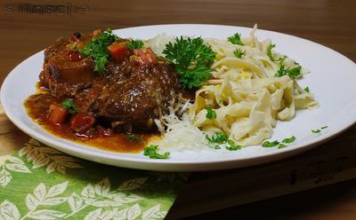Rezept: Ossobuco vom Rind mit selbstgemachter Pasta