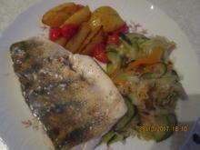Zander mit lecker Gemüse und Tomaten-Kartoffeln - Rezept - Bild Nr. 4365
