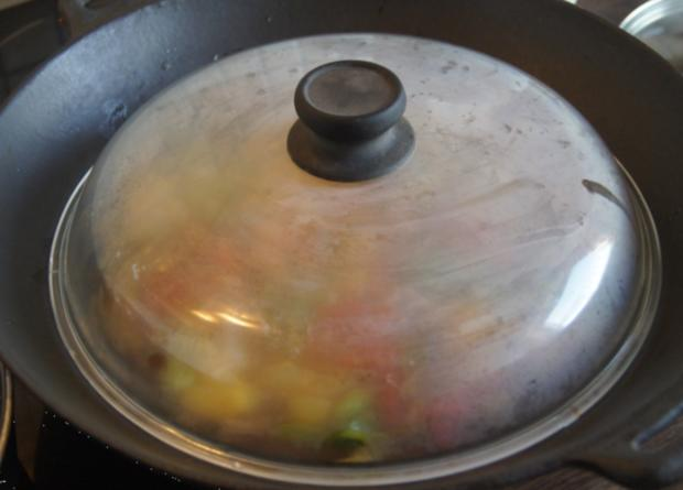 Süß-saures Gemüse-Garnelen-Curry mit Curry-Reis - Rezept - Bild Nr. 4373