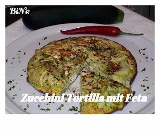 Rezept: BiNe` S ZUCCHINI TORTILLA MIT FETA