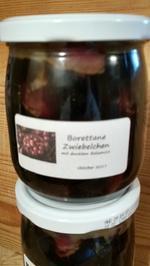 Borettane Zwiebelchen, eingelegt in dunklem Balsamico - Rezept - Bild Nr. 4370