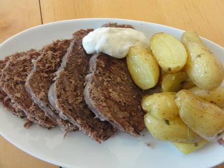 Fleisch:   TAFELSPITZ  mit Meerrettich-Schnittlauchsauce - Rezept - Bild Nr. 4390