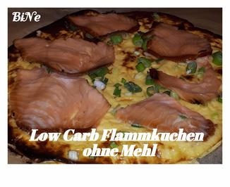 Rezept: BiNe` S LOW CARB FLAMMKUCHEN OHNE MEHL