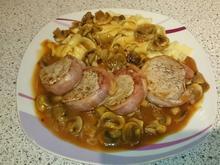 Schweinemedallions mit Bacon in Champignon-Soße - Rezept - Bild Nr. 2
