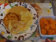 Sellerieschnitzel mit Sellerie-Kartoffelstampf und Möhrenblüten-Antipasta - Rezept - Bild Nr. 4475