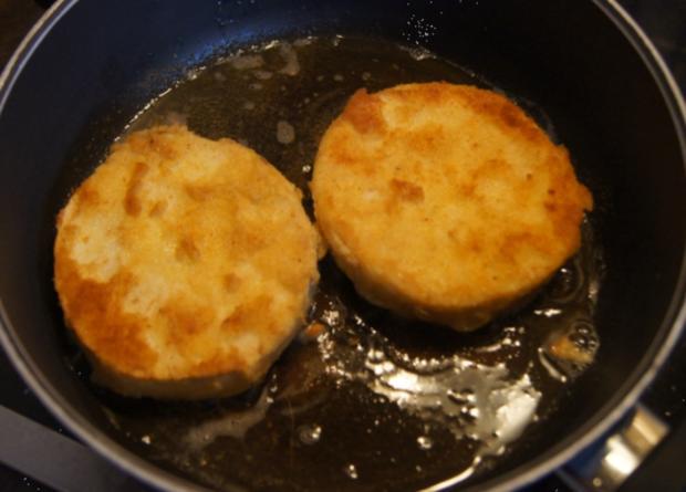 Sellerieschnitzel mit Sellerie-Kartoffelstampf und Möhrenblüten-Antipasta - Rezept - Bild Nr. 4484