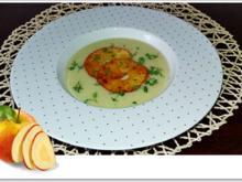 Staudensellerie Creme-Suppe mit gebratenen-Apfelscheiben - Rezept - Bild Nr. 4479