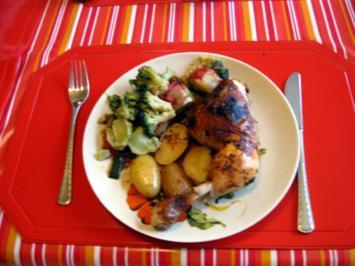 Rezept: Hähnchen Gemüse Pfanne
