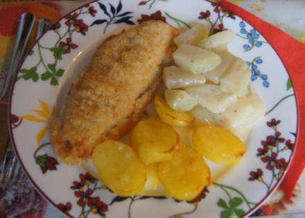Alaska-Seelachs-Filet mit Rahm-Kohlrabi und Ofenkartoffeln - Rezept - Bild Nr. 4496