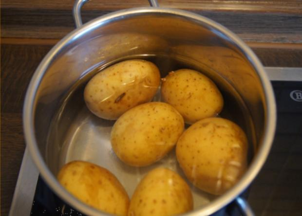 Alaska-Seelachs-Filet mit Rahm-Kohlrabi und Ofenkartoffeln - Rezept - Bild Nr. 4499