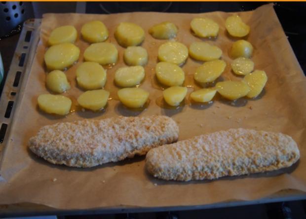 Alaska-Seelachs-Filet mit Rahm-Kohlrabi und Ofenkartoffeln - Rezept - Bild Nr. 4507