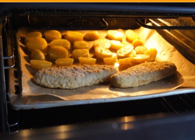 Alaska-Seelachs-Filet mit Rahm-Kohlrabi und Ofenkartoffeln - Rezept - Bild Nr. 4508
