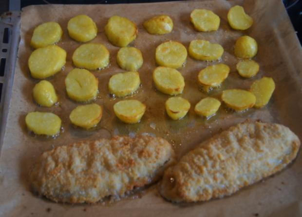 Alaska-Seelachs-Filet mit Rahm-Kohlrabi und Ofenkartoffeln - Rezept - Bild Nr. 4509