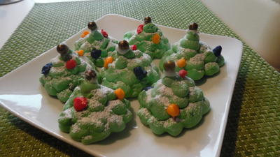 Rezept: Weihnachtsbäume aus Baiser