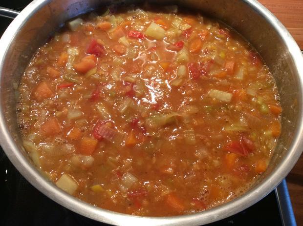 Linsensuppe mit Chili und Gemüse - scharf - Rezept - Bild Nr. 4542