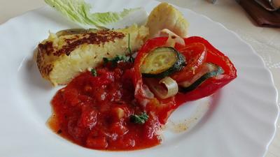 Kartoffelkuchen mit Gemüseragout - Rezept - Bild Nr. 4550