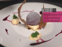 Holunderbeerenparfait mit weißer Schokolade & Sesamkrokant - Rezept - Bild Nr. 4574
