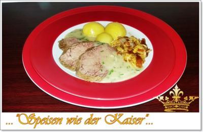 Pochierter Tafelspitz mit Schnittlauchsauce und Kartoffeln - Rezept - Bild Nr. 4576