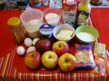 Rezept: Apfel Mandel Kuchen mit Eierlikör