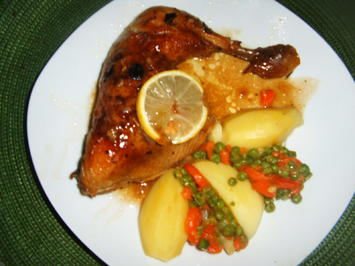 Zitronen-Hähnchenkeulen - Rezept - Bild Nr. 4603