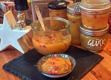 Kaki-Granatapfel-Konfitüre mit Tonkabohne - Rezept - Bild Nr. 2