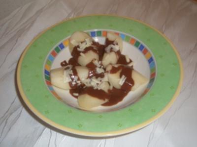 Birnen mit Schokoladensauce - Rezept