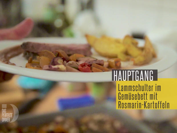 Lammschulter im Gemüsebeet mit Rosmarin Kartoffeln - Rezept - Bild Nr. 4626