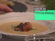 Pfifferling-Creme-Suppe mit frischem Baguette - Rezept - Bild Nr. 4626