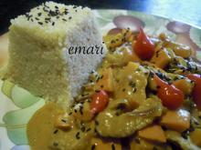 Kalbgeschnetzeltes in Curry Kokos Erdnuss Sauce - Rezept - Bild Nr. 4628