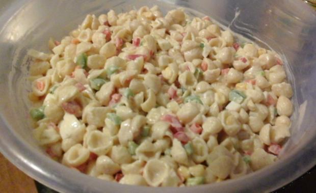 Nudel-Eier-Salat mit Gemüse - Rezept - Bild Nr. 2