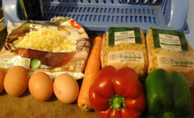 Nudel-Eier-Salat mit Gemüse - Rezept - Bild Nr. 3