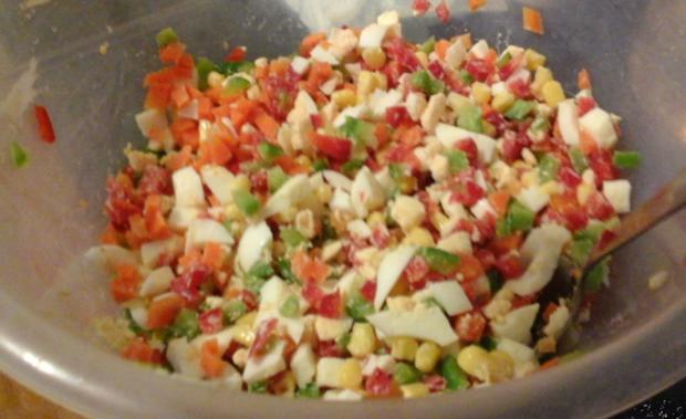 Nudel-Eier-Salat mit Gemüse - Rezept - Bild Nr. 4