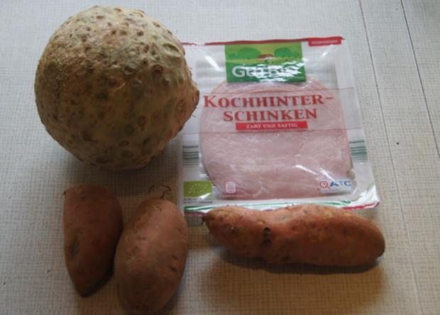 Sellerie-Cordon-bleu mit Süßkartoffelstampf - Rezept - Bild Nr. 4646