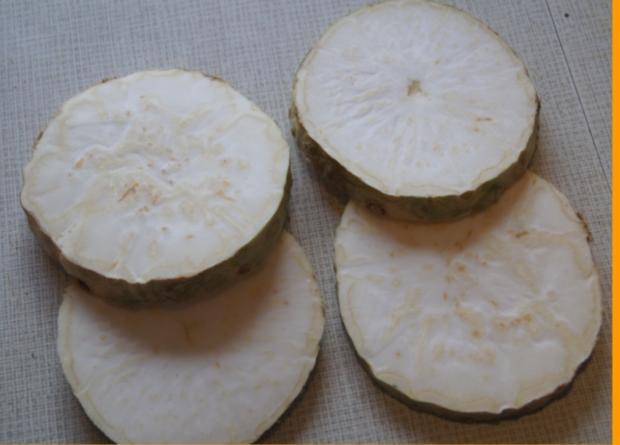 Sellerie-Cordon-bleu mit Süßkartoffelstampf - Rezept - Bild Nr. 4647