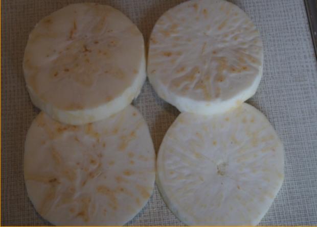 Sellerie-Cordon-bleu mit Süßkartoffelstampf - Rezept - Bild Nr. 4648