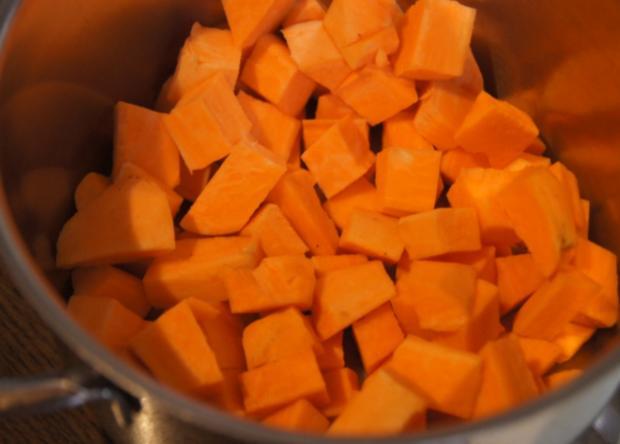 Sellerie-Cordon-bleu mit Süßkartoffelstampf - Rezept - Bild Nr. 4657
