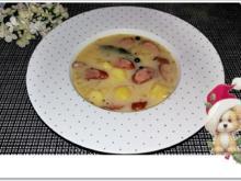 Kartoffelsuppe mit Würstchen & mit Crème fraîche verfeinert - Rezept - Bild Nr. 4645