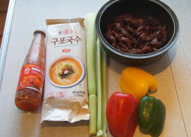 Rindfleisch mit Gemüse im Wok und Weizennudeln - Rezept - Bild Nr. 4654