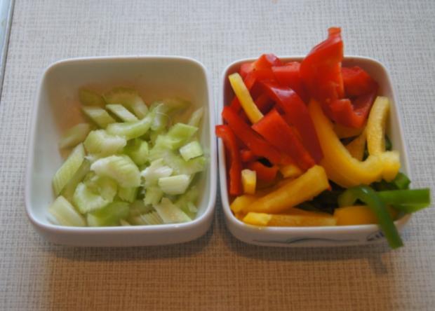 Rindfleisch mit Gemüse im Wok und Weizennudeln - Rezept - Bild Nr. 4656