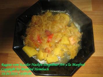 Rezept: Fleisch – Ragout vom Kassler Nacken Szegediner Art a'la Manfred