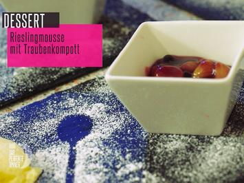 Rieslingmousse mit Traubenkompott - Rezept - Bild Nr. 2