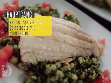 Rhein-Zander mit Spätzle und Spinatpesto mit Pinienkernen - Rezept - Bild Nr. 2