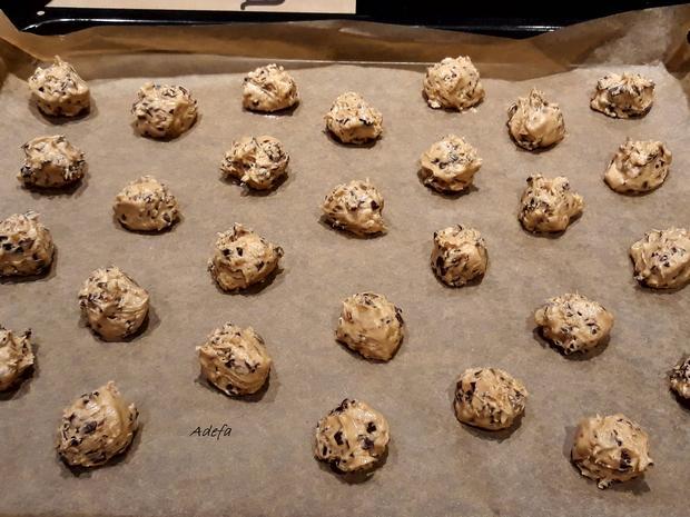 Weihnachtliche Schoko - Mandel - Cookies - Rezept - Bild Nr. 4713