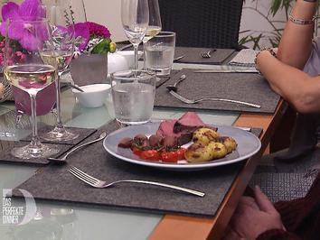 Sous Vide gegartes Rinderfilet, Rotweinschalotten, Schmortomaten und Rosmarinkartoffeln - Rezept - Bild Nr. 2