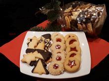 Dreierlei Kekse aus einem Teig - Rezept - Bild Nr. 4723