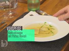 Klare Kohlrabisuppe mit Puttes-Ravioli - Rezept - Bild Nr. 2