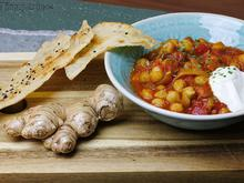 Chana masala - Arbeiter-Curry - Mit Fladenbrot - Rezept - Bild Nr. 4735